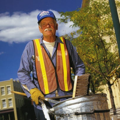 Jerry Smith was downtown Lafayette's street sweeper from 1984 until his death in 2010.