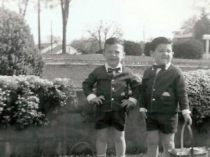 Roger Webb, left, and Rick Webb posed for a photo on Easter Sunday in 1963. They are the sons of Paul and Sharon Webb of Knoxville.