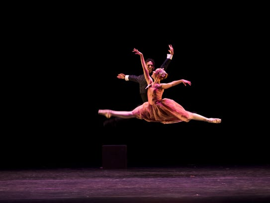 """Ballet 5:8's production of """"Scarlet"""" combines original choreography, music, film elements and spoken word into one unique performance."""