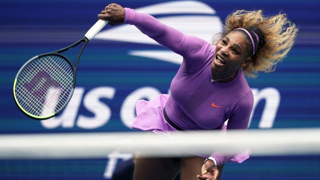 Serena Williams returns a shot to Bianca Andreescu during the women's singles final of the U.S. Open tennis championships on Sept. 7, 2019 in New York. Serena Williams is planning to play in the 2020 U.S. Open.
