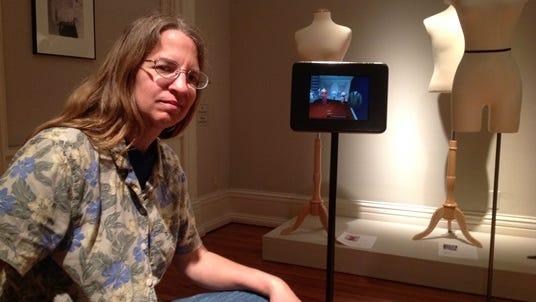 Caroll Abbott, adjunct professor at Ohio University Lancaster, created an iPad application used in the Decorative Arts Center of Ohio's Edith Head exhibition through Aug. 24.
