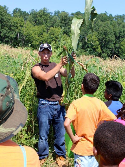 Jon Elsman at farm day