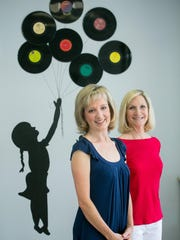 Co-owners Mary Goodman, left, and Missy Powers at Musicology in Scottsdale on Thursday, September 3, 2015.