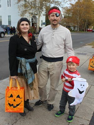 Entire families dressed up together for the Trick or Treat Trail. (M. Rosenberry)