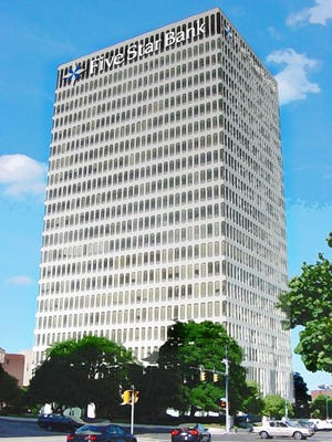 An artist's rendering of a new Five Star Bank location in downtown Rochester.