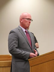 Prosecutor Daniel Rose speaks in Livingston County