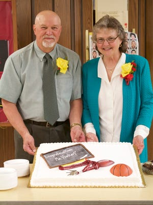 A retirement celebration and program was held May 22 for Ted Voelker, a long-time teacher at Immanuel Lutheran School. He is pictured with his wife, Chris.