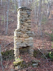 Chimneys for homes that stand no longer are reminders that the North Shore area of Great Smoky Mountains National Park was once populated.