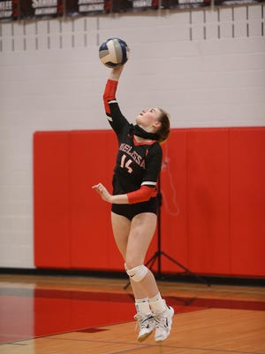 The Melissa Lady Cardinals volleyball team defeated the Gainesville Leopards on Sept. 8 at home.
