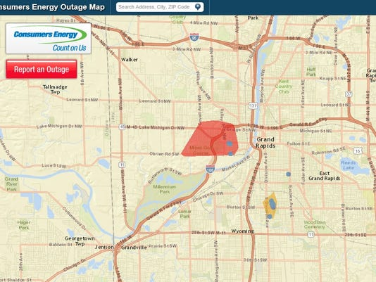Power Outage Map Grand Rapids.Power Outage Hits Grand Rapids Westside