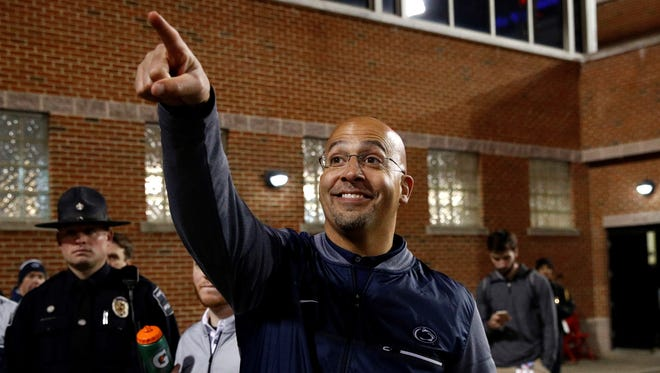 Penn State head coach James Franklin is the top earner at Pennsylvania's three major universities, which also includes Pitt and Temple. Franklin makes more than $5 million annually. AP FILE PHOTO
