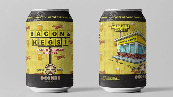 Restaurant chain Waffle House has teamed with Georgia's Oconee Brewing to make a Waffle House themed beer that smells like bacon.