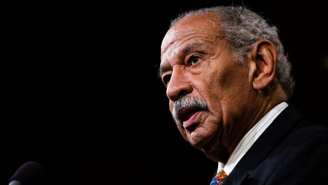 U.S. Rep. John Conyers (D-MI) speaks a news conference on Capitol Hill, January 16, 2014 in Washington, DC. A group of lawmakers announced that they are introducing legislation, the Voting Rights Amendment Act of 2014, that would restore keys parts of the 1965 Voting Rights Act.