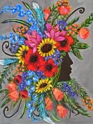 Area artist Yvonne Sternadel's first solo art show