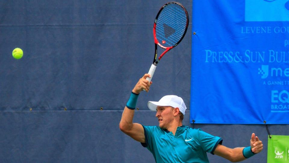 American Mitchell Krueger fell short in the singles