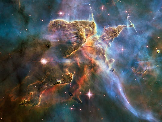 Close-up of the Carina Nebula by the Hubble Space Telescope,