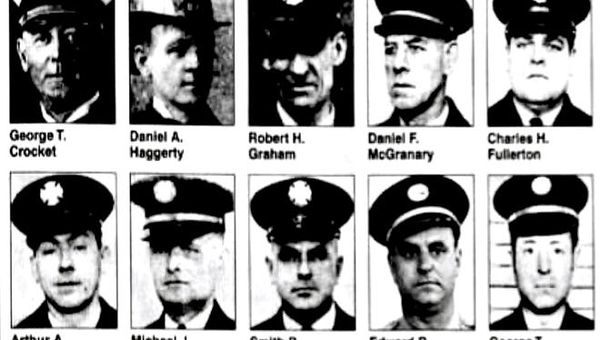 These Wilmington firefighters died in the line of duty between 1922 and 1998.
