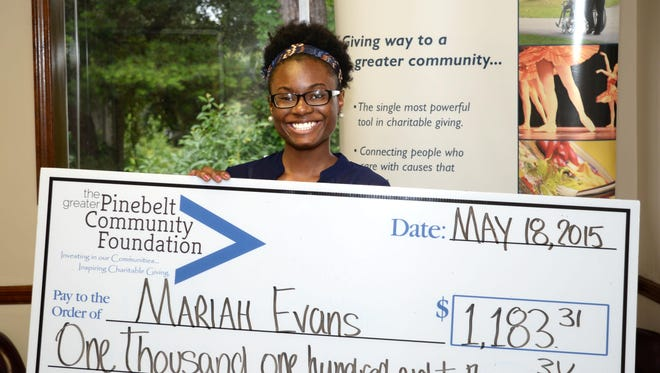 Mariah Evans is one of the recipients of the 2015 Eloise Hopson Scholarship.