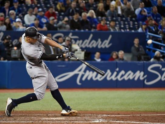 Jun 6, 2018; Toronto, Ontario, CAN;  New York Yankees