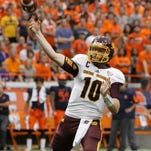 CMU QB Cooper Rush will need help from the Chippewas' rushing attack Saturday.