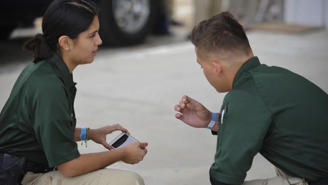 More than 400 participated in the sheriff's Central Valley Explorer Competition held at the Tulare International Agri-Center.