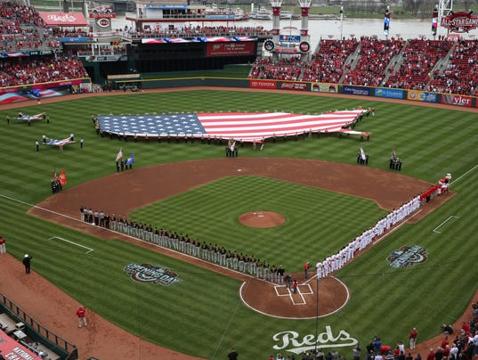 Red Opening Day 2015 The Reds' Opening Day Pregame