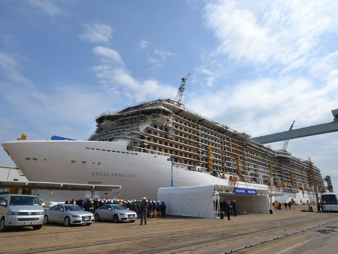 Under construction at the Fincantieri shipyard in Monfalcone, Italy is a sister ship to the Royal Princess to be called Regal Princess.