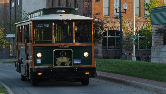 The downtown trolley service will not operate in 2018 due to lack of funding.
