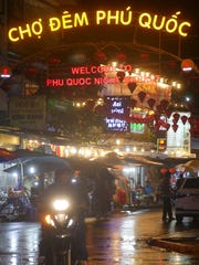 The entrance to the Phu Quoc Night Market on the Vietnamese island of Phu Quoc.