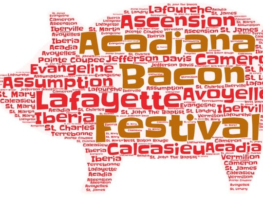 The Acadiana Bacon Fest graphic