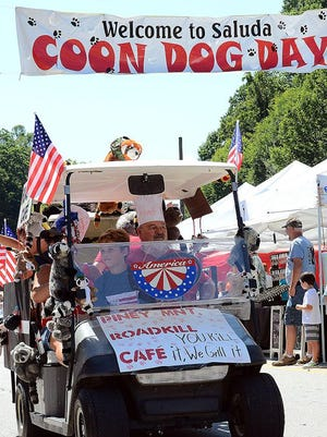 Scenes from the Coon Dog Day parade on July 8, 2017.