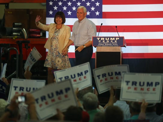 Republican Vice Presidential candidate Mike Pence and