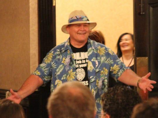 Sheriff Bob Bezotte, dressed in his retirement garb,