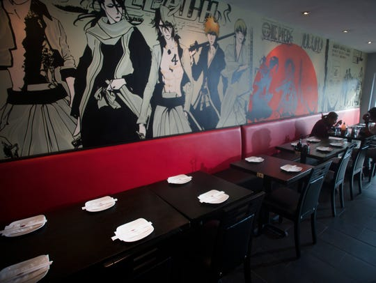 Rayaki's decor is a fun, comic-book vibe in Cherry Hill.