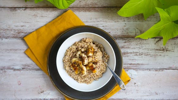 Roasted Banana Oatmeal is a quick breakfast boost at Snap  Kitchen.