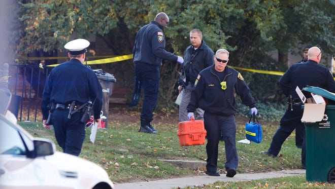Police investigate a shooting in Roselawn that left one man with life-threatening injuries Monday.