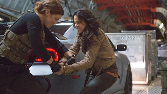 Boys, get out the way: Gina Carano and Michelle Rodriguez