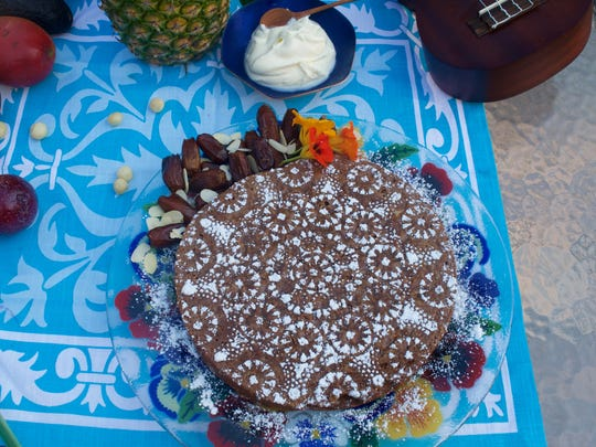 Milk Chocolate Almond Cake with Dates