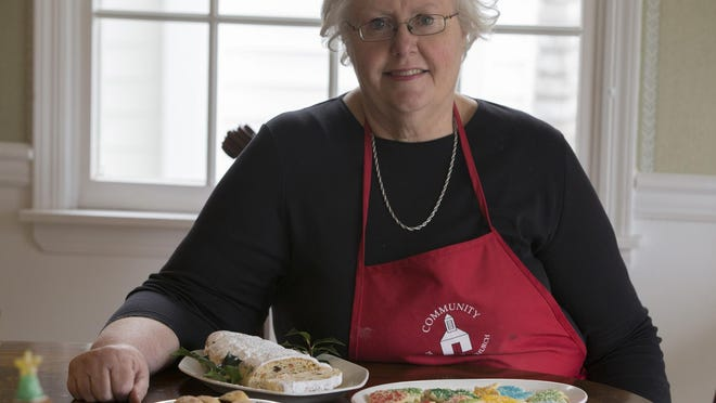 Avid baker Beth Pfaff of Chester makes a variety of Christmas cookies in her kitchen. She often cooks for bake sales at Community Presbyterian Church.