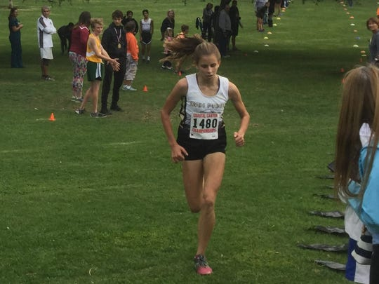 Sylvia Cruz-Albrecht of Oak Park was the Runner of the Yearfor the All-Coastal Canyon League girls cross country team.