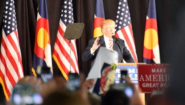 """Donald Trump held a rally in Colorado Springs, Colo., on Oct. 18, 2016, saying: """"Either we win this election or we lose this country."""""""