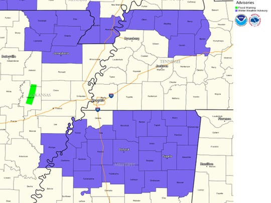 An accumulation of one inch of snow mixed with sleet is possible in north Mississippi
