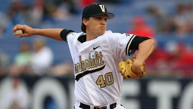 Vanderbilt pitcher Collin Snider.