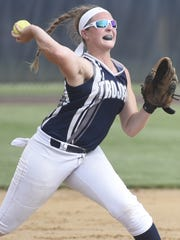 Chambersburg's Tara Harmon fields a ball during the first round of states. The Trojans will play Mifflin County on Thursday in the PIAA Class AAAA quarterfinals.
