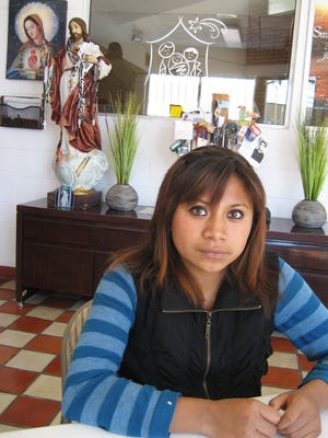 Josefina Gomez, 19, a native of San Cristobal De Las Casas, Mexico, entered the U.S. as an undocumented immigrant and was deported earlier this year. She is currently living in an immigrant shelter in Juárez.