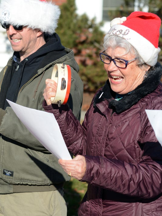 Indivisible holiday Perry protest
