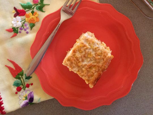 Corn pudding, a staple on the Thanksgiving table for