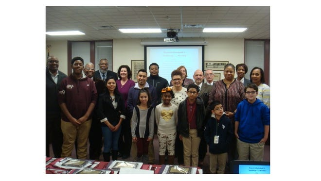 Bulldogs of the Month for January were recognized at the Bridgeton Board of Education meeting in February
