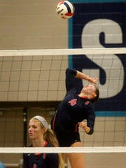 Oakland's Jessica Paden (16) is a finalist for the DNJ's All-Area Volleyball Player of the Year.