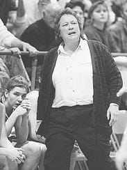 A photo of Huismann coaching against Seton back in